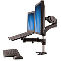 """StarTech.com Single-Monitor Arm - Laptop Stand - One-Touch Height Adjustment, Clamp, 8 kg, 38.1 cm (15""""), 68.6 cm (27""""), 100 x 100 mm, Aluminium, Black"""
