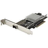 StarTech.com 1-Port 10G Open SFP+ Network Card - PCIe - Intel Chip - MM/SM, Internal, Wired, PCI Express, Fiber, 10000 Mbit/s, Black