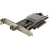 StarTech.com 1-Port 10G SFP+ Fiber Optic Network Card - PCIe - Intel Chip - MM, Internal, Wired, PCI Express, Fiber, 20000 Mbit/s, Black