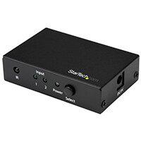 StarTech.com 2-Port HDMI Switch - 4K 60Hz, HDMI, Black, 60 Hz, 1280 x 720 (HD 720),1920 x 1080 (HD 1080),1920 x 1200 (WUXGA),2560 x 1600 (WQXGA),3840 x 2160, Power, 3840 x 2160 pixels