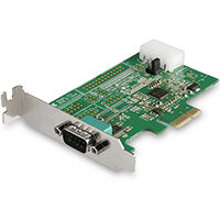 StarTech.com 1-port PCI Express RS232 Serial Adapter Card - PCIe RS232 Serial Host Controller Card - PCIe to Serial DB9 - 16950 UART - Low Profile Expansion Card - Windows & Linux, PCIe, Serial, PCIe 1.1, RS-232, Green, 277385 h