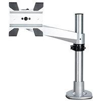 "StarTech.com Desk Mount Monitor Arm - VESA or Apple iMac/Thunderbolt or Ultrawide Display up to 30lb/44"" - Articulating Height Adjustable Single Desktop Monitor Pole Mount - Clamp/Grommet, Clamp, 14 kg, 30.5 cm (12""), 86.4 cm (34""), 100 x 100 mm, Silver"
