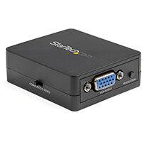 StarTech.com Composite to VGA Video Converter - NTSC and PAL - 1920x1200 - Composite Video Scaler - S Video to VGA Adapter, Active video converter, Black, Plastic, CE, FCC, REACH, 1920 x 1200 pixels, 800 x 600,1024 x 768,1280 x 1024,1600 x 1200,1680 x 105