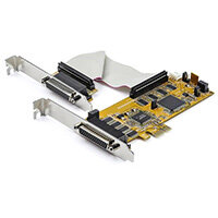 StarTech.com 8-Port PCI Express RS232 Serial Adapter Card - PCIe RS232 Serial Card - 16C1050 UART - Low Profile Serial DB9 Controller/Expansion Card - 15kV ESD Protection - Windows/Linux, PCIe, Serial, Full-height / Low-profile, RS-232, Yellow, CE, FCC, T