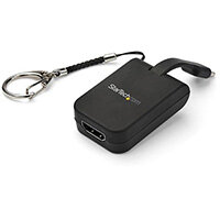 StarTech.com Portable USB-C to HDMI Adapter with Quick-Connect Keychain, USB Type-C, HDMI output, 3840 x 2160 pixels