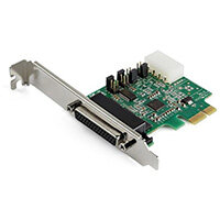 StarTech.com 4-port PCI Express RS232 Serial Adapter Card - PCIe RS232 Serial Host Controller Card - PCIe to Serial DB9 Card - 16950 UART - Expansion Card - Windows/Linux, PCIe, Serial, Full-height / Low-profile, RS-232, Green, 214358 h