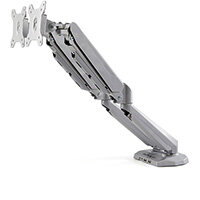 """StarTech.com Desk Mount Dual Monitor Arm with USB & Audio - Desk Clamp VESA Mount for up to 32 inch Displays - 2x USB, 2x 3.5mm audio - Ergonomic Full Motion Dual Monitor Arm - Silver, Clamp, 16 kg, 38.1 cm (15""""), 81.3 cm (32""""), 100 x 100 mm, Silver"""