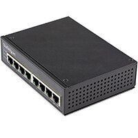 StarTech.com Industrial 8 Port Gigabit PoE Switch - 30W - Power Over Ethernet Switch - GbE PoE+ Unmanaged Switch - Rugged High Power Gigabit Network Switch IP-30/-40 C to 75 C, Unmanaged, Gigabit Ethernet (10/100/1000), Full duplex, Power over Ethernet (P