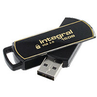 Integral Secure 360 Encrypted USB 3.0 16GB Flash Drive INFD16GB360SEC3.0