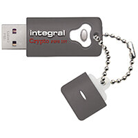 Integral Crypto Encrypted USB 3.0 8GB Flash Drive INFD8GCRY3.0197