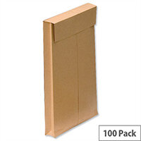 New Guardian Gusset C4 Window Envelopes 130gsm Manilla Peel and Seal Pack of 100