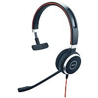 Jabra Evolve 40 Headset - Mono - USB Adapter with Audio 3.5 mm Connector - Optimised for Microsoft Skype for Business