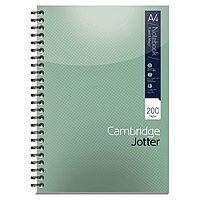 A4 Notebook 200 Page Wirebound Feint & Margin Ref 400039062 Cambridge [Pack 3]