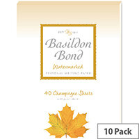 Basildon Bond Champagne Writing Pad 137 X 178mm Pack of 10 100101040