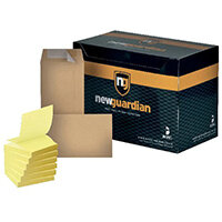 New Guardian DL Envelope Peel and Seal Manilla (Pack of 500) FOC Post-it Notes Yellow Pk6 JDE814020