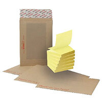 New Guardian C4 Board Back Envelope Manilla (Pack of 125) FOC Post-it Notes Yellow Pk6 JDH814003