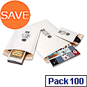 Jiffy Mailmiser Size 2 Protective Bubble Lined Bags 205x245mm White Pack 100