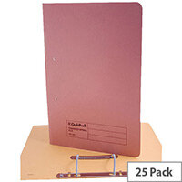 Guildhall Pink Transfer File Foolscap Pack of 25
