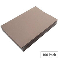 Concord Guildhall 180gsm Square Cut Folder Light-weight Foolscap Buff Pack of 100 41202