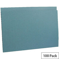 Concord Guildhall 290gsm Square Cut Folder Heavy-weight Foolscap Blue Pack of 100 44203
