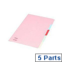 Concord Subject Divider Foolscap 5-Part 71299/J12