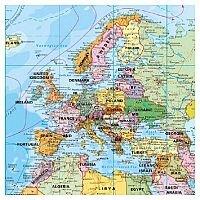 Franken World Map Magnetic Board 1:33,000,000, 138x88cm