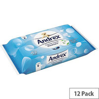 Andrex Classic Clean Toilet Moist Wipes Washlets 42 Wet Wipes Per Pack (Pack of 12) 4512278