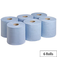 Wypall L20 Essential Centrefeed Blue Pack of 6 7277
