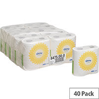 Kleenex Ultra Toilet Paper Tissue Small Roll 2 Ply 240 Sheets White Pack of 40