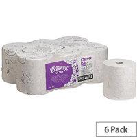 Kleenex Ultra 2 Ply White Hand Towel Rolls 150m (6 Rolls) 6780