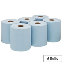 Wypall L10 Food and Hygiene Centrefeed Blue Pack of 6 7255
