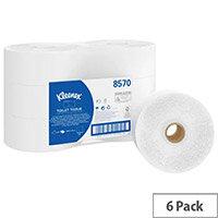 Kleenex Jumbo Toilet Tissue White 190m Pack of 6 8570