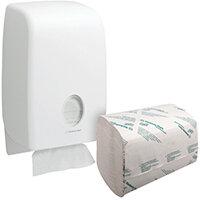 Scott Performance 1 Ply Hand Towels White Pack of 3180 FOC Aquarius Dispenser KC832092