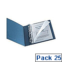 Q-Connect Punched Pocket Polypropylene A4 Glossy Top/Left Side-Opening Pack of 25 KF00714