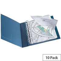 Q-Connect Punched Pocket Polypropylene A3 Folding to A4 Glossy Top-Opening 80 Micron Pack of 10 KF00715
