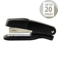 Q-Connect Stapler Metal Half Strip Black