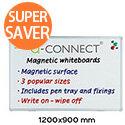Q-Connect Aluminium Magnetic Drywipe Board 1200x900mm