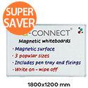 Q-Connect Aluminium Magnetic Dry Wipe Board 1800x1200mm
