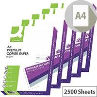 Q-Connect Premium Copier And Laser Paper A4 80gsm White 2500 Sheets