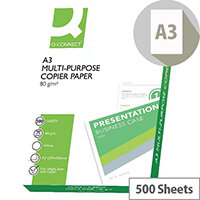 Q-Connect A3 80gsm White Copier Paper Ream of 500 Sheets
