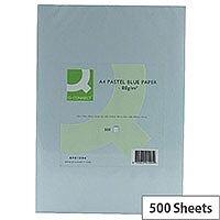 Q-Connect Blue A4 Paper Coloured Copier Card 80gsm Ream 500 Sheets
