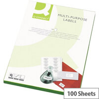 Q-Connect Copier Labels 105x37mm 16 per A4 Sheet Butt Cut Pack of 100 White