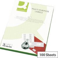 Q-Connect 14 Per Sheet Fluorescent Yellow Multi-Purpose Labels (1400 Labels)