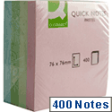 Q Connect Quick Note Cube 76x76mm 400 Sheets Pastel