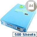 A4 Bright Blue Coloured Copier Paper 80gsm Ream Q-Connect
