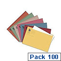 Q-Connect Square Cut Folder Light-weight 180gsm Foolscap Assorted Pack of 100 KF01491