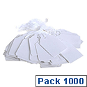 Q-Connect Strung Ticket 70x44mm White Pack of 1000 KF01622