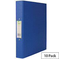 Q-Connect A4 Ring Binder Plastic 25mm Blue Pack 10