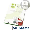 Q-Connect 16 Per Sheet Multi-Purpose Labels 99.1x34mm (8000 Labels)