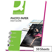 Q-Connect A4 High Gloss Photo Paper 260gsm (Pack of 50)